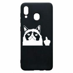 Чохол для Samsung A30 Grumpy cat F**k Off