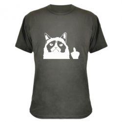 Камуфляжна футболка Grumpy cat F**k Off