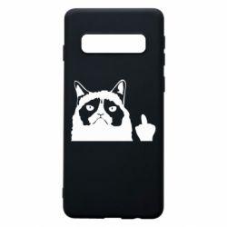 Чохол для Samsung S10 Grumpy cat F**k Off
