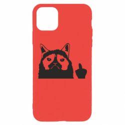 Чохол для iPhone 11 Pro Max Grumpy cat F**k Off