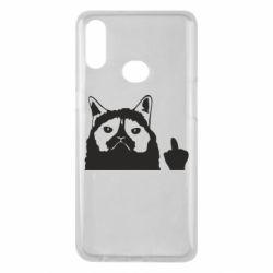 Чохол для Samsung A10s Grumpy cat F**k Off