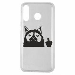 Чохол для Samsung M30 Grumpy cat F**k Off