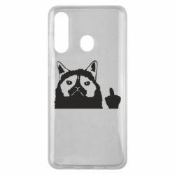 Чохол для Samsung M40 Grumpy cat F**k Off