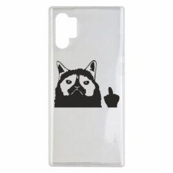 Чохол для Samsung Note 10 Plus Grumpy cat F**k Off
