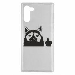 Чохол для Samsung Note 10 Grumpy cat F**k Off