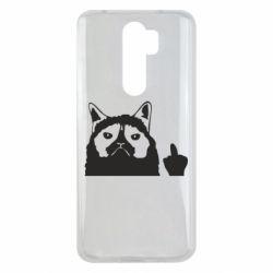 Чохол для Xiaomi Redmi Note 8 Pro Grumpy cat F**k Off