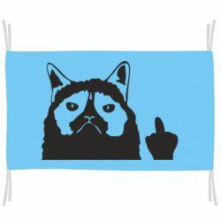 Прапор Grumpy cat F**k Off