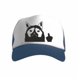 Дитяча кепка-тракер Grumpy cat F**k Off