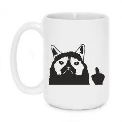 Кружка 420ml Grumpy cat F**k Off