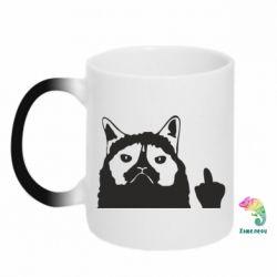 Кружка-хамелеон Grumpy cat F**k Off