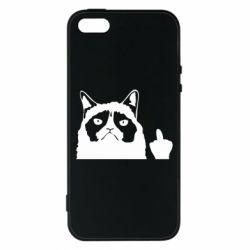 Чохол для iphone 5/5S/SE Grumpy cat F**k Off