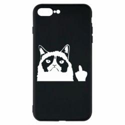 Чохол для iPhone 7 Plus Grumpy cat F**k Off