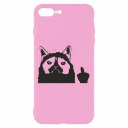 Чохол для iPhone 8 Plus Grumpy cat F**k Off