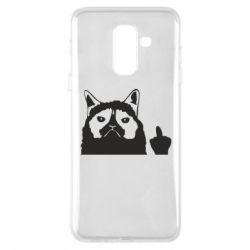 Чохол для Samsung A6+ 2018 Grumpy cat F**k Off