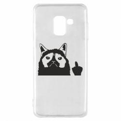 Чохол для Samsung A8 2018 Grumpy cat F**k Off