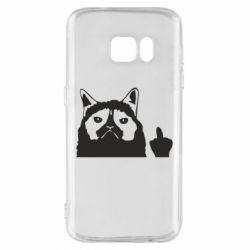 Чохол для Samsung S7 Grumpy cat F**k Off