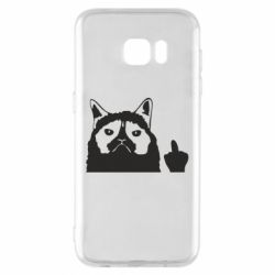 Чохол для Samsung S7 EDGE Grumpy cat F**k Off
