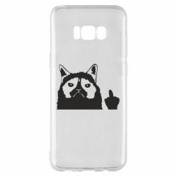 Чохол для Samsung S8+ Grumpy cat F**k Off