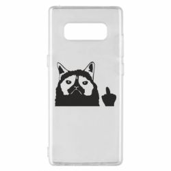 Чохол для Samsung Note 8 Grumpy cat F**k Off