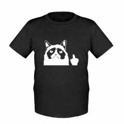 Детская футболка Grumpy cat F**k Off