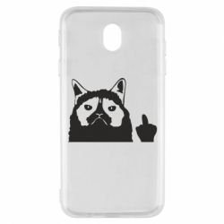 Чохол для Samsung J7 2017 Grumpy cat F**k Off