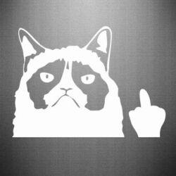 Наклейка Grumpy cat F**k Off