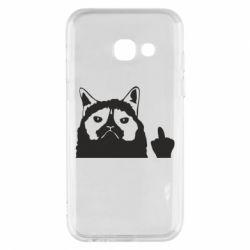 Чохол для Samsung A3 2017 Grumpy cat F**k Off