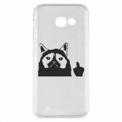 Чохол для Samsung A5 2017 Grumpy cat F**k Off