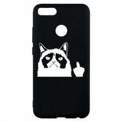Чохол для Xiaomi Mi A1 Grumpy cat F**k Off