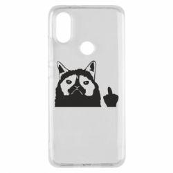 Чохол для Xiaomi Mi A2 Grumpy cat F**k Off