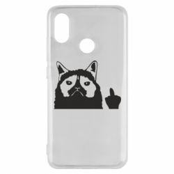 Чохол для Xiaomi Mi8 Grumpy cat F**k Off
