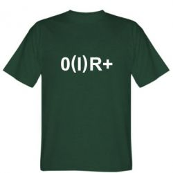 Мужская футболка Группа крови (1)0+