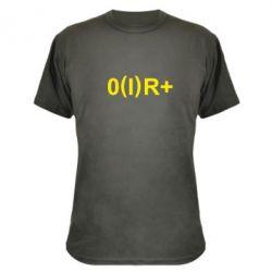 Камуфляжная футболка Группа крови (1)0+