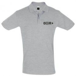 Мужская футболка поло Группа крови (1)0+