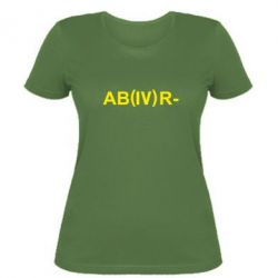Женская футболка Группа крови (4)АВ-