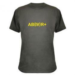 Камуфляжная футболка Группа крови (4)АВ+