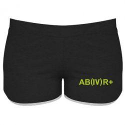 Женские шорты Группа крови (4)АВ+