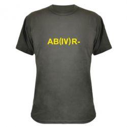 Камуфляжная футболка Группа крови (4)АВ-