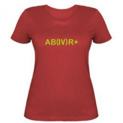 Женская футболка Группа крови (4)АВ+