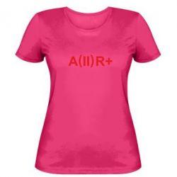 Женская футболка Группа крови (2)А+