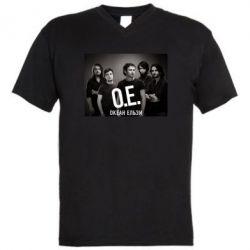 Мужская футболка  с V-образным вырезом Группа Океан Ельзы