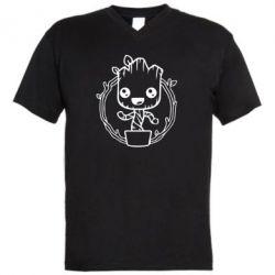 Чоловіча футболка з V-подібним вирізом Grut with smile
