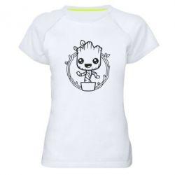 Жіноча спортивна футболка Grut with smile