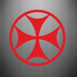 Наклейка Грузинский Крест