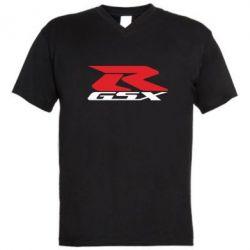 Мужская футболка  с V-образным вырезом GSX-R