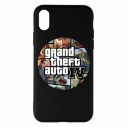 Чехол для iPhone X/Xs GTA 4 Logo