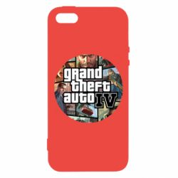 Чехол для iPhone5/5S/SE GTA 4 Logo