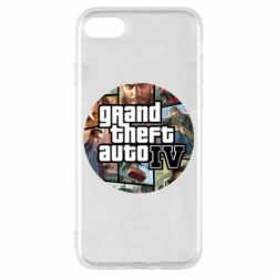 Чехол для iPhone 7 GTA 4 Logo
