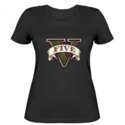 Женская футболка GTA 5 3D Logo