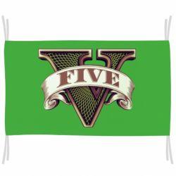 Прапор GTA 5 3D Logo
